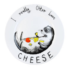 Jimbobart I Really Otter Have Cheese Side Plate