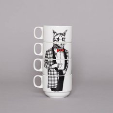 Jimbobart Mr Fox Coffee Cup Set