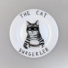 Jimbobart The Cat Burgerler Side Plate
