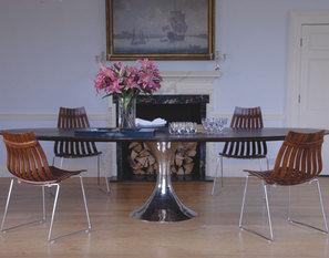 Exceptional Julian Chichester Dakota Ebonised Oak Oval Table