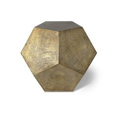 Julian Chichester Gio Blackened Brass Side Table