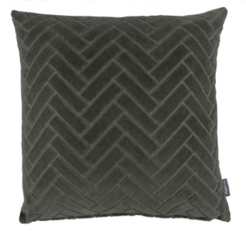 Kirkby Design Parquet Cushion Carbon