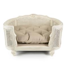 Lord Lou Arthur Linen Ecru Pet Bed
