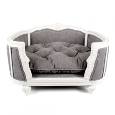 Lord Lou Arthur Stonewashed Grey Pet Bed
