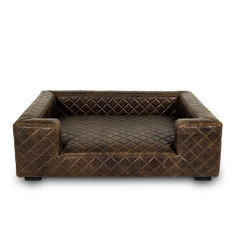 Lord Lou Edoardo Leather Large Pet Bed