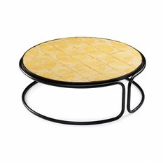 Mambo Unlimited Ideas Caldas Gaudi Yellow Round Table