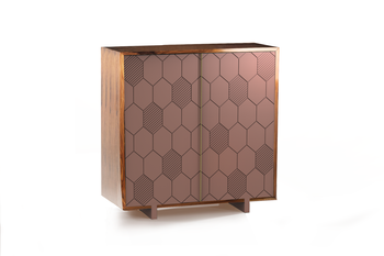 Mambo Unlimited Ideas Lewis Blossom Bar Cabinet