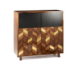 Mambo Unlimited Ideas Samoa Iron Wood Bar Cabinet