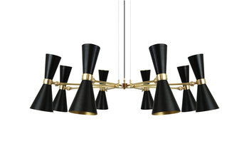 Mullan Lighting Cairo 8 Arm Contemporary Black Chandelier
