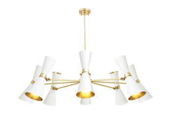 Mullan Lighting Cairo 8 Arm Contemporary White Chandelier