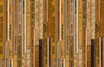 NLXL Printed Rulers Large Wallcovering