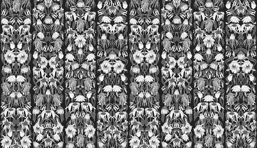 NLXL Withered Flowers Black Archives Wallcovering