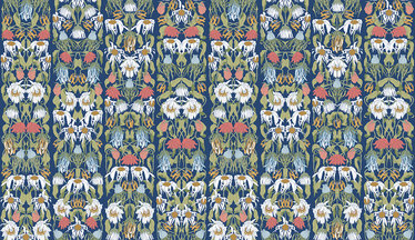 NLXL Withered Flowers Color Archives Wallcovering