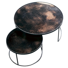 Notre Monde Bronze Nesting Coffee Table Set