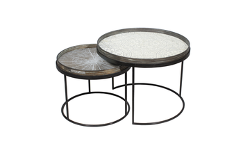 Notre Monde Round Low Tray Table Set