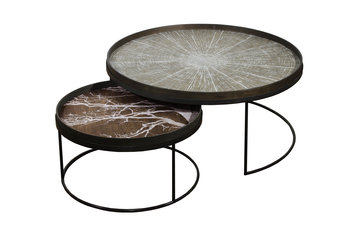 Notre Monde Round Tray Low Table Set