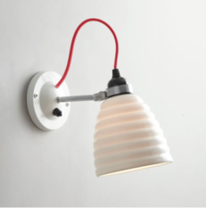 Original BTC Hector Bibendum Switched with Red Cable Wall Light