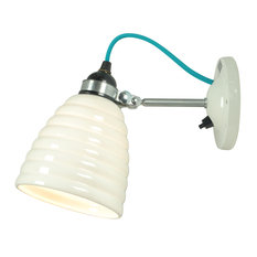 Original BTC Hector Bibendum Switched with Turquoise Cable Wall Light