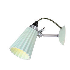 Original BTC Hector Pleat Light Green Wall Light