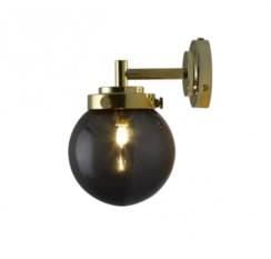 Original BTC Mini Globe Anthracite with Brass Wall Light