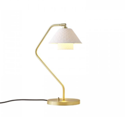 Original BTC Oxford Double Satin Brass Desk Light