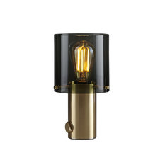 Original BTC Walter Anthracite & Brass Table Light