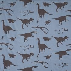 PaperBoy D'ya-Think-E-Saurus Blue And Brown Fabric