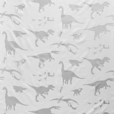 PaperBoy D'ya-Think-E-Saurus White And Silver Fabric
