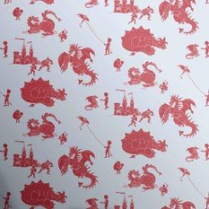 PaperBoy Ere-Be-Dragons Blue And Red Wallpaper