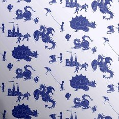 PaperBoy Ere-Be-Dragons Blue Wallpaper
