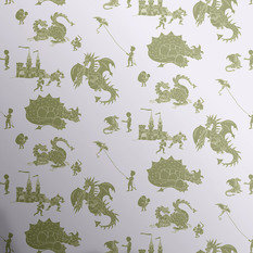 PaperBoy Ere-Be-Dragons Grey-Lilac Wallpaper