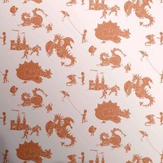 PaperBoy Ere-Be-Dragons Stone-Taupe Wallpaper
