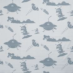 PaperBoy The Final Frontier Blue And Blue Fabric