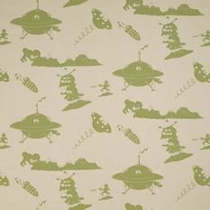 PaperBoy The Final Frontier Cream And Green Fabric