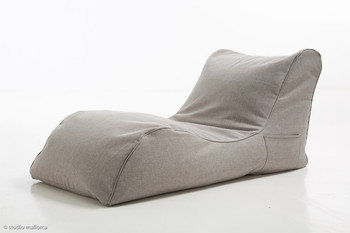 Pouf Daddy The Curve Grey Linen Bean Bag