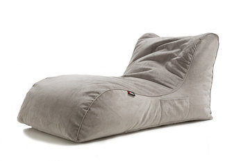 Pouf Daddy The Curve Grey Velvet Bean Bag