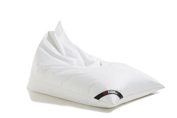 Pouf Daddy The Jubbly White Original Triangle Bean Bag