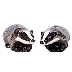 Quail Badger Salt & Pepper Shakers