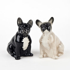 Quail French Bulldog Salt & Pepper Shakers
