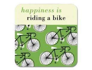 Repeat Repeat Happiness Cycles Green Coaster