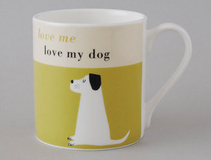 Repeat Repeat Happiness Dog Olive Mug