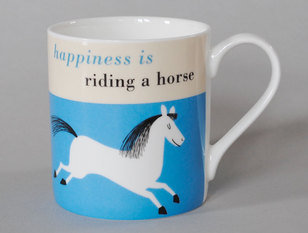 Repeat Repeat Happiness Horse Turquoise Mug