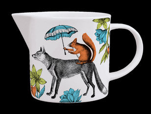 Repeat Repeat Menagerie Mr. Fox White Jug