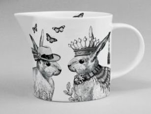 Repeat Repeat Sunday Best Rabbits White Jug