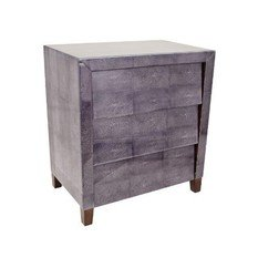 R V Astley 1950s Dark Grey Shargreen 3 Drawer Chest
