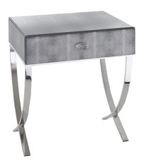 R V Astley Arlo Side Table Black Shagreen