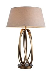 R V Astley Brisa Antique Brass Table Lamp