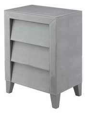 R V Astley Colby Soft Grey Shagreen Side Table
