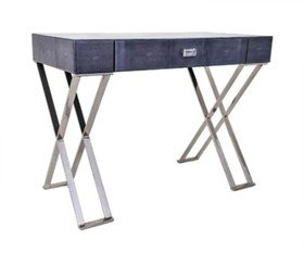 R V Astley Dark Grey Sienna Shagreen Dressing Table