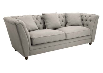R V Astley Ely Grey 3 Seater Sofa